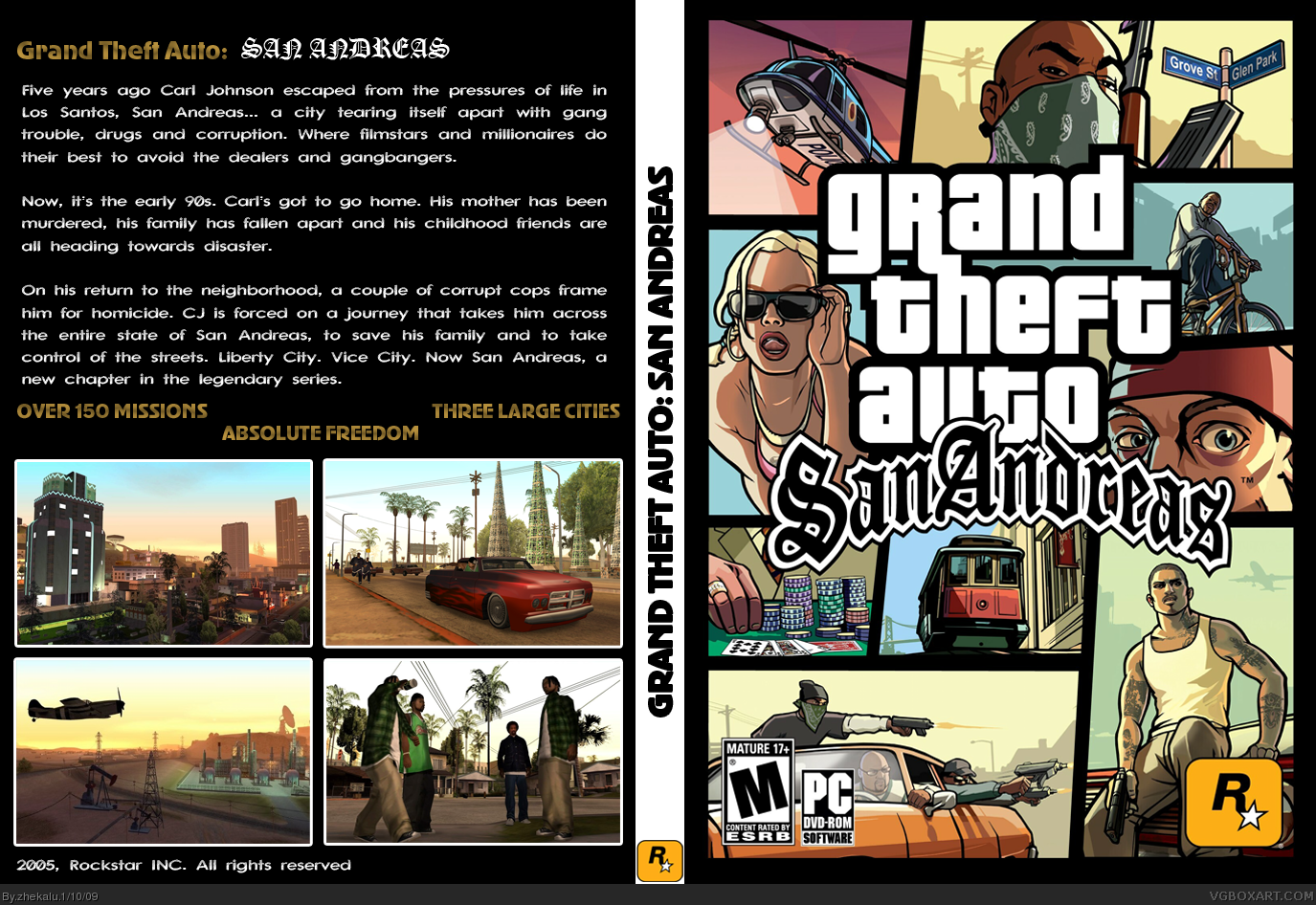 Gta 6 Cover: Grand Theft Auto: San Andreas PC Box Art Cover By Zhekalu