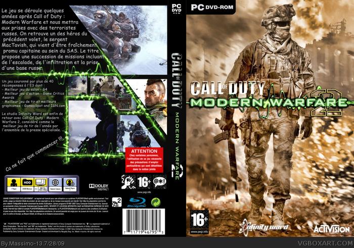 Call of Duty: Modern Warfare 2 PC Box Art Cover by Massimo-13