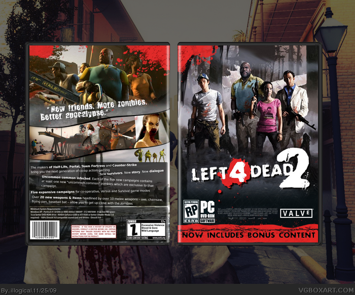 Left 4 Dead 2 PC Box Art Cover by  illogical