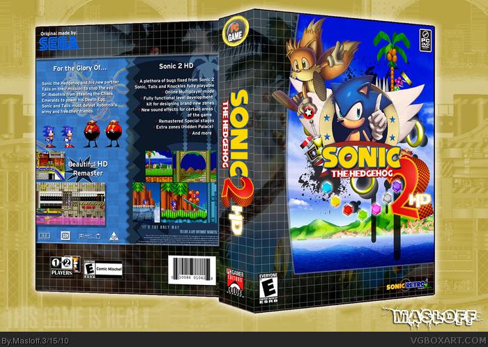 Sonic the Hedgehog 2: HD PC Box Art Cover by Masloff