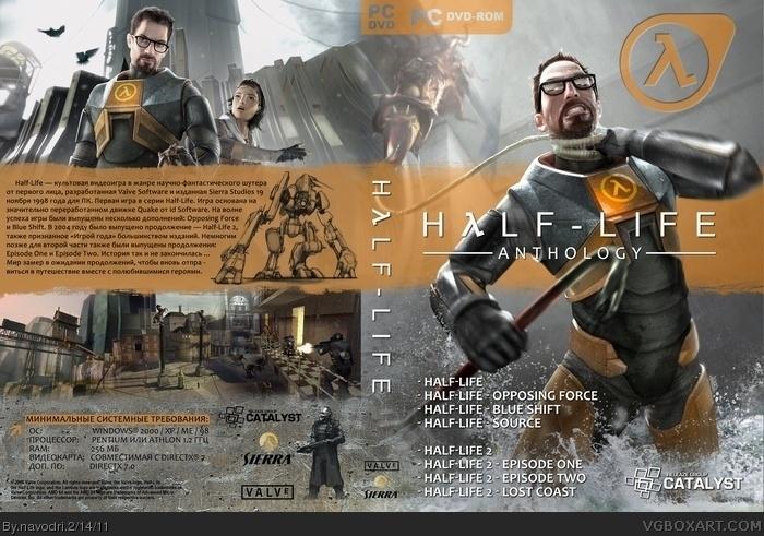 Half-Life: Anthology PC Box Art Cover by navodri