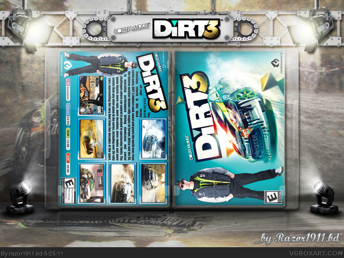 dirt 3 pc box art cover by. Black Bedroom Furniture Sets. Home Design Ideas