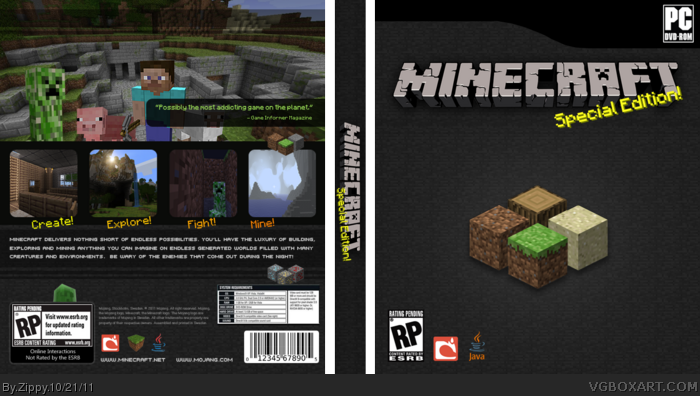 Purchase Minecraft Pc Game : Minecraft pc box art cover by zippy
