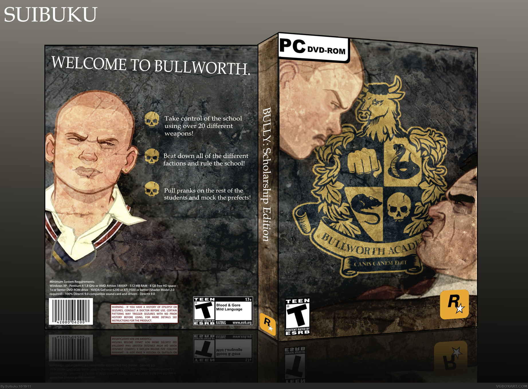 Bully: Scholarship Edition PC Box Art Cover by Suibuku