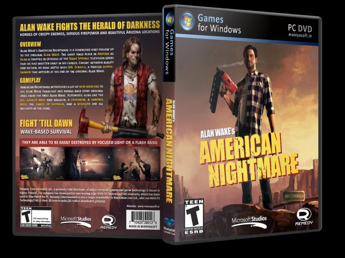 اللعبه الرائعه Alan Wakes American Nightmare pc