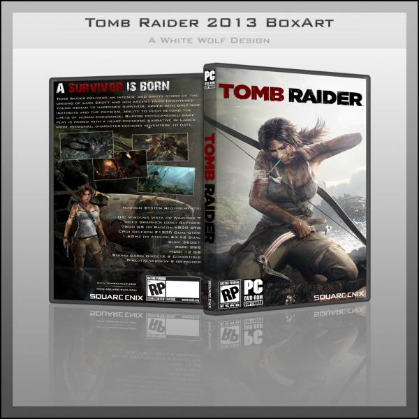 tomb raider 2013 pc box art cover by white wolf