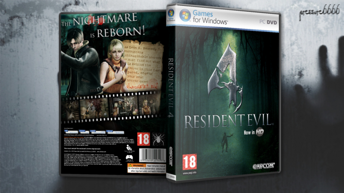 Resident Evil 4 PC Box Art Cover by pressure6666