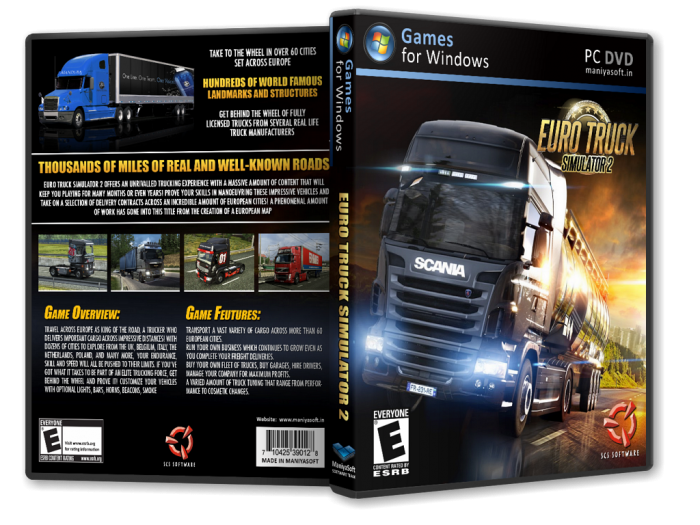 Euro Truck Simulator 2 PC Box Art Cover by payam_mazkouri