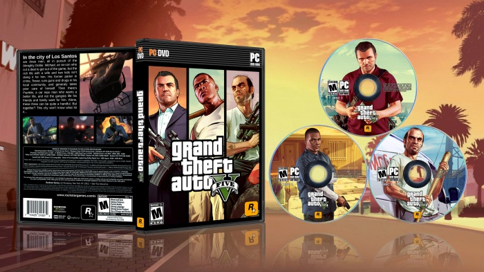 Grand Theft Auto V PC Box Art Cover by Adam Salter