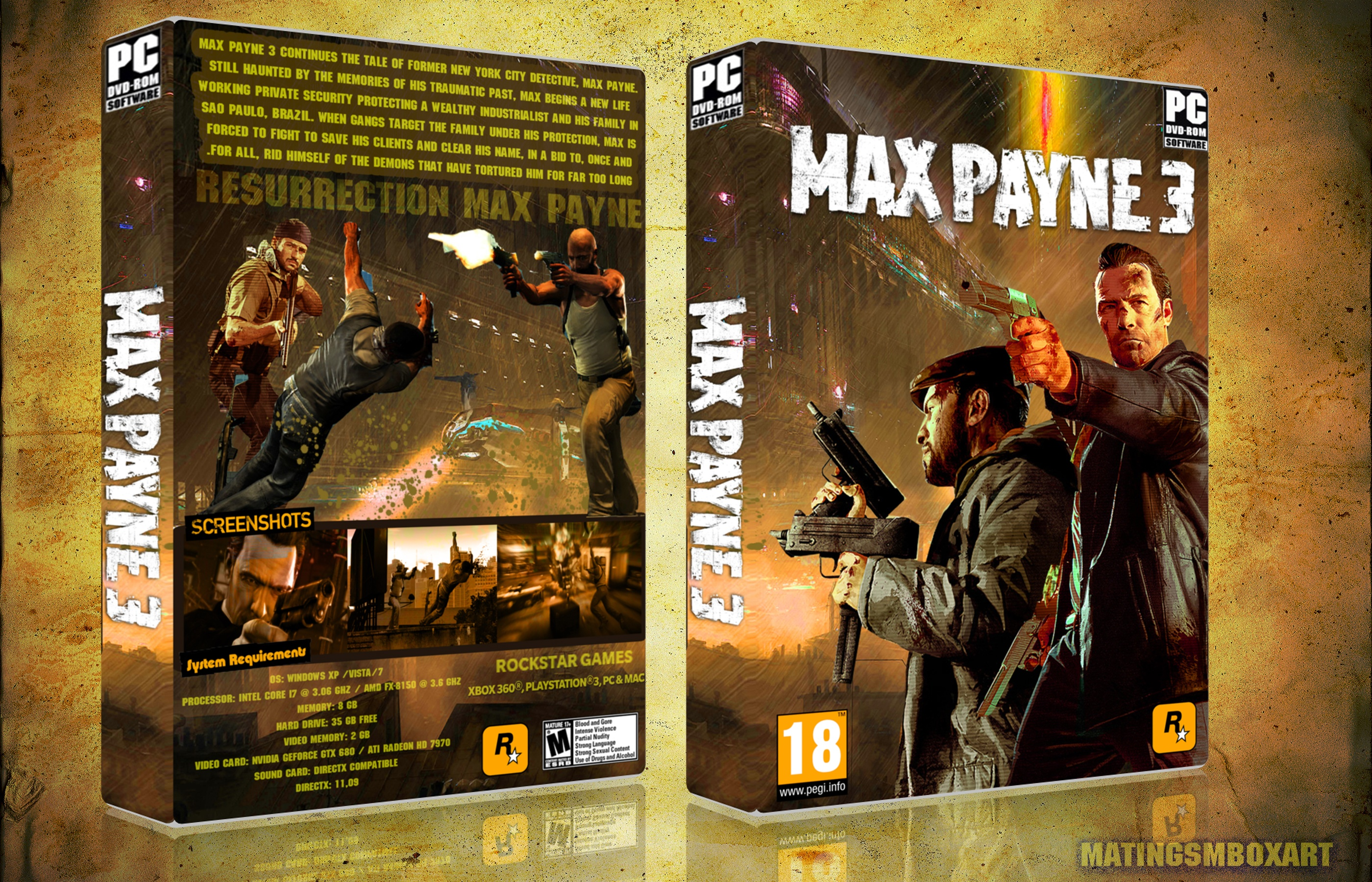 Max Payne 3 Pc Box Art Cover By Matingsm