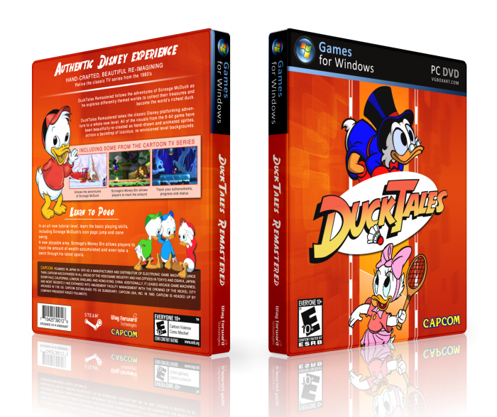 ducktales remastered pc box art cover by lastlight