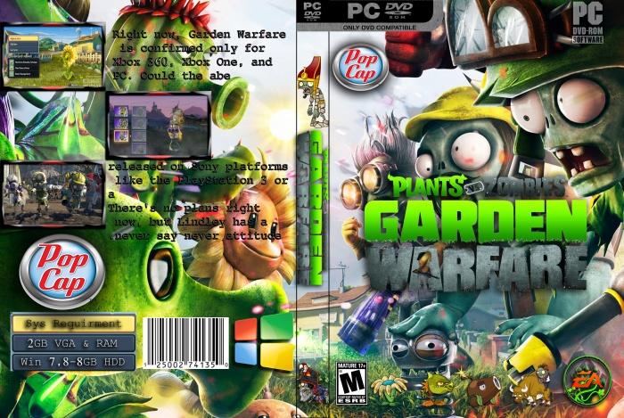 Plants Vs Zombies Garden Warfare Pc Box Art Cover By Heart Breaker