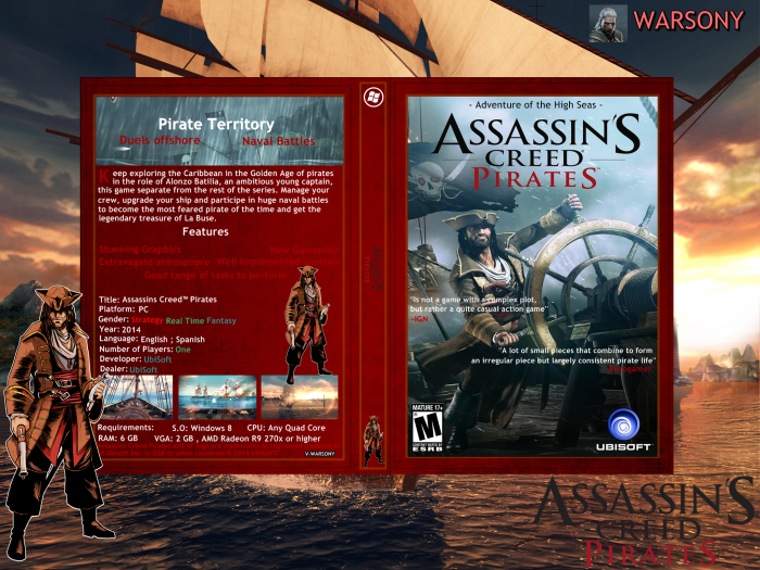 Assassins Creed Pirates Pc Box Art Cover By Warsony