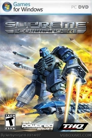 Supreme Commander box cover