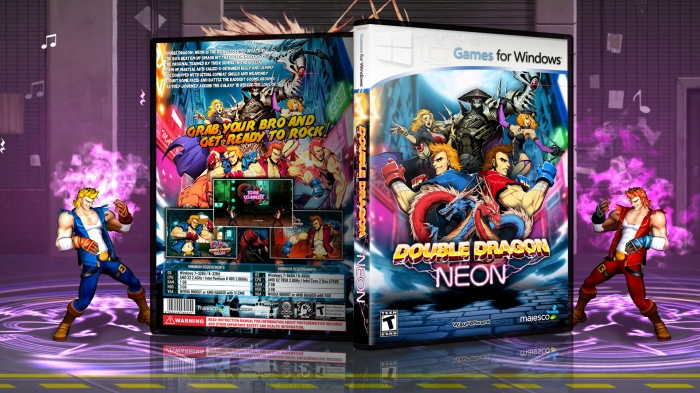 Double Dragon Neon Pc Box Art Cover By Rudi Blackdon