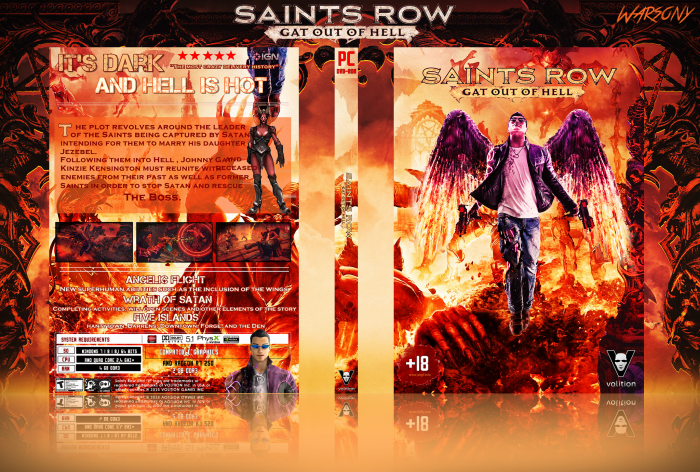 Saints Row Gat Out Of Hell Pc Box Art Cover By Warsony