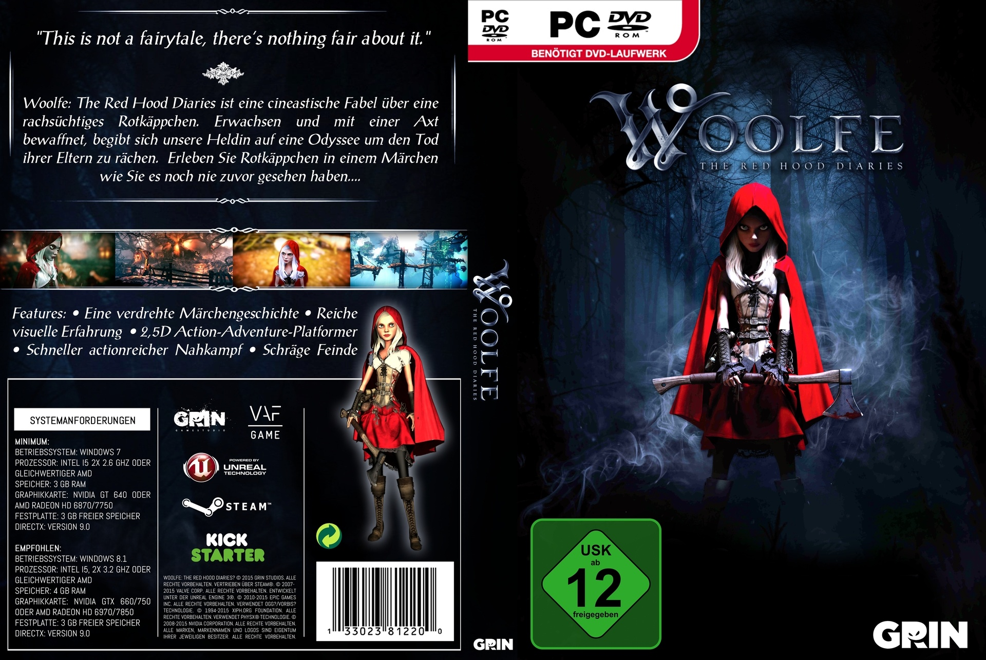 Woolfe: The Red Hood Diaries box cover