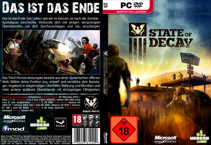 State of Decay PC Box Art Cover by AHO