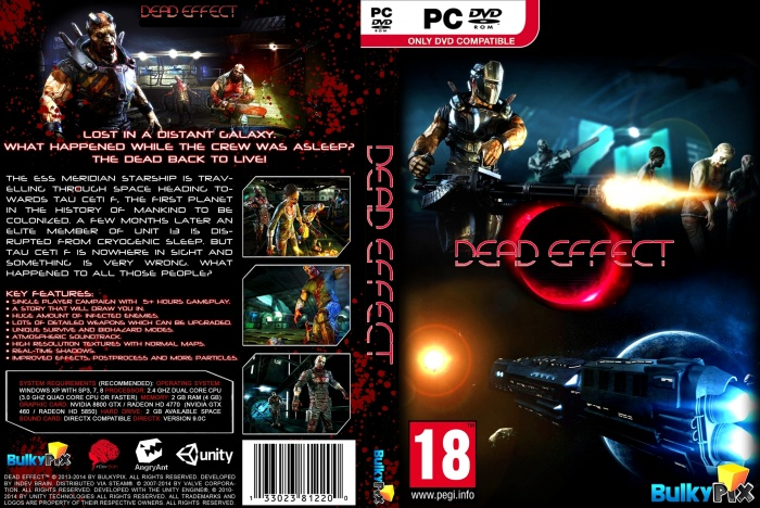 Dead Effect PC Box Art Cover by AHO