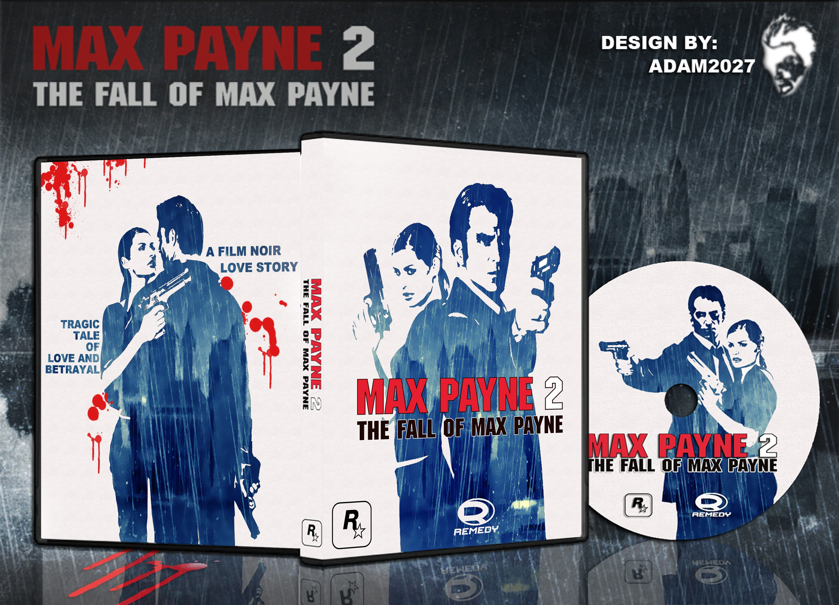 Max Payne 2 The Fall Of Max Payne Pc Box Art Cover By Adam2027