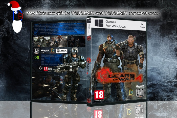 Gears of War 4 DB Cover PC Box Art Cover by DigitalBurger