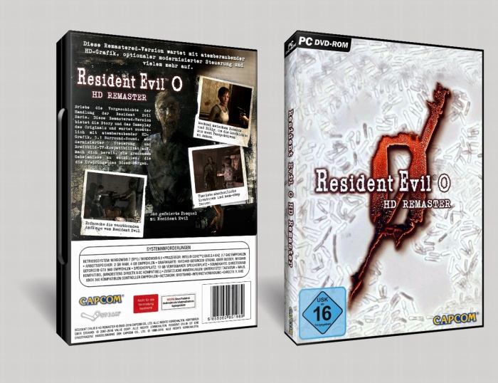 Resident Evil 0 - HD Remaster PC Box Art Cover by AHO
