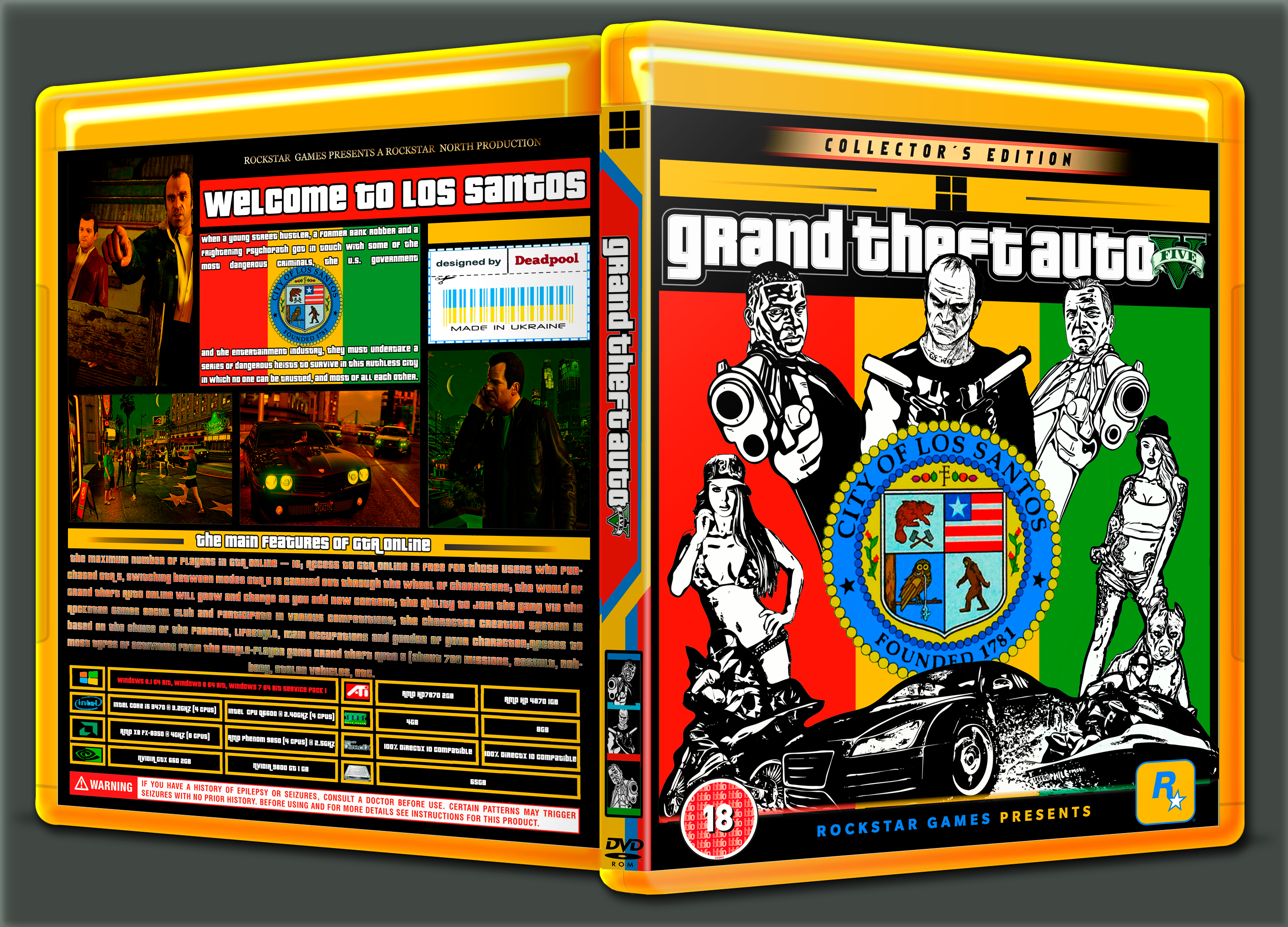 Viewing full size Grand Theft Auto V box cover