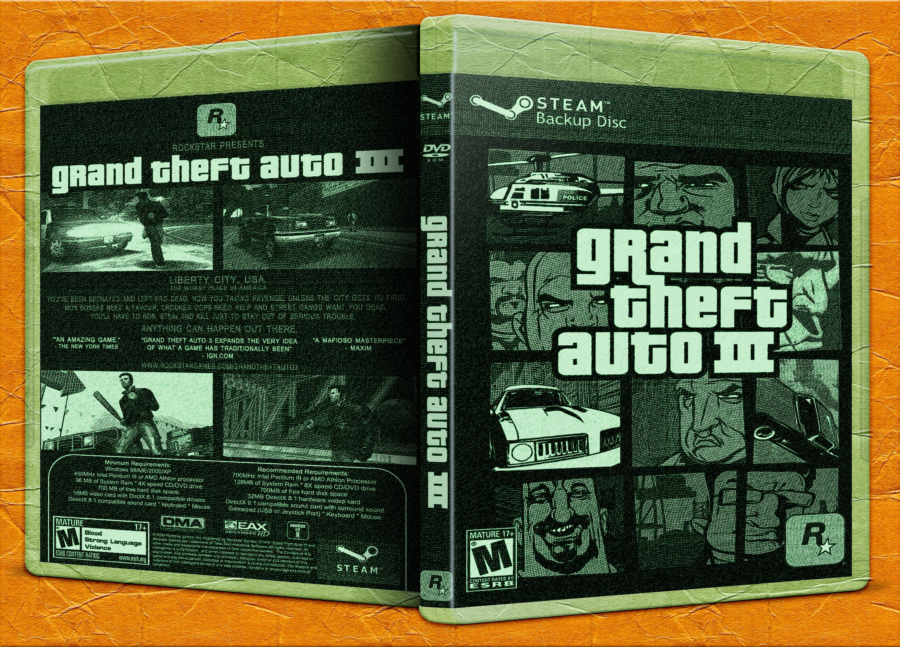 Viewing full size Grand Theft Auto III box cover