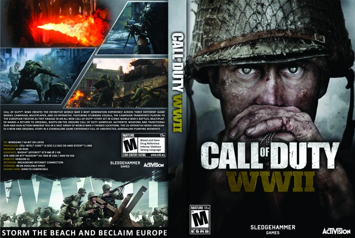 Call Of Duty Wwii Pc Box Art Cover By Moj007