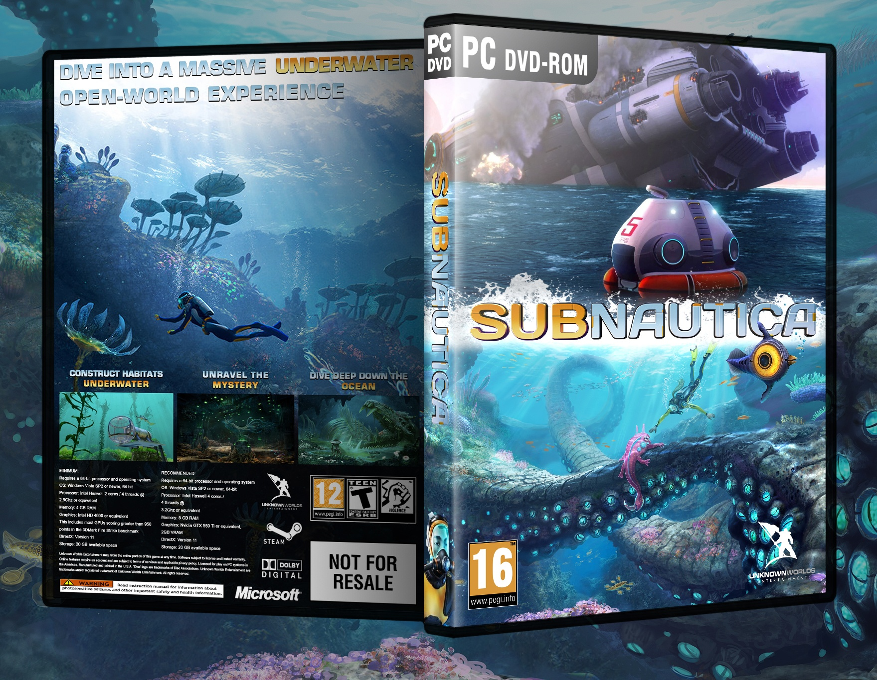 Viewing full size Subnautica box cover