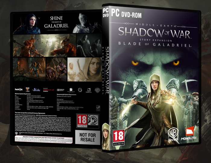 Middle-earth: Shadow of War Blade Of Galadriel PC Box Art