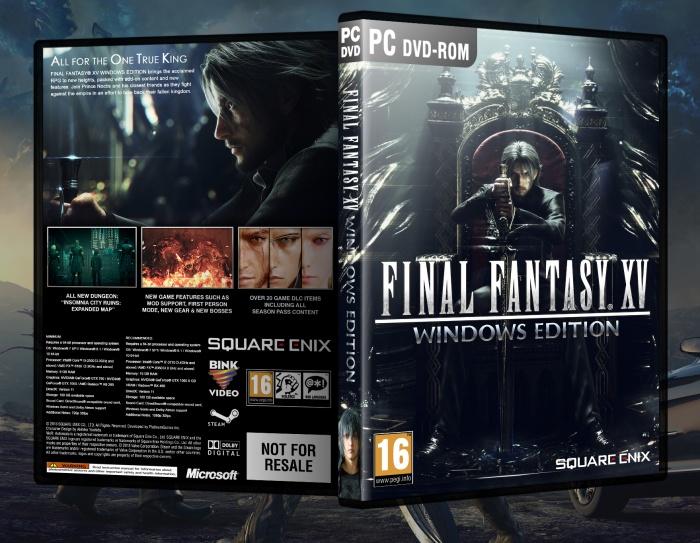 Final Fantasy XV: Windows Edition PC Box Art Cover by FIRE13spotty