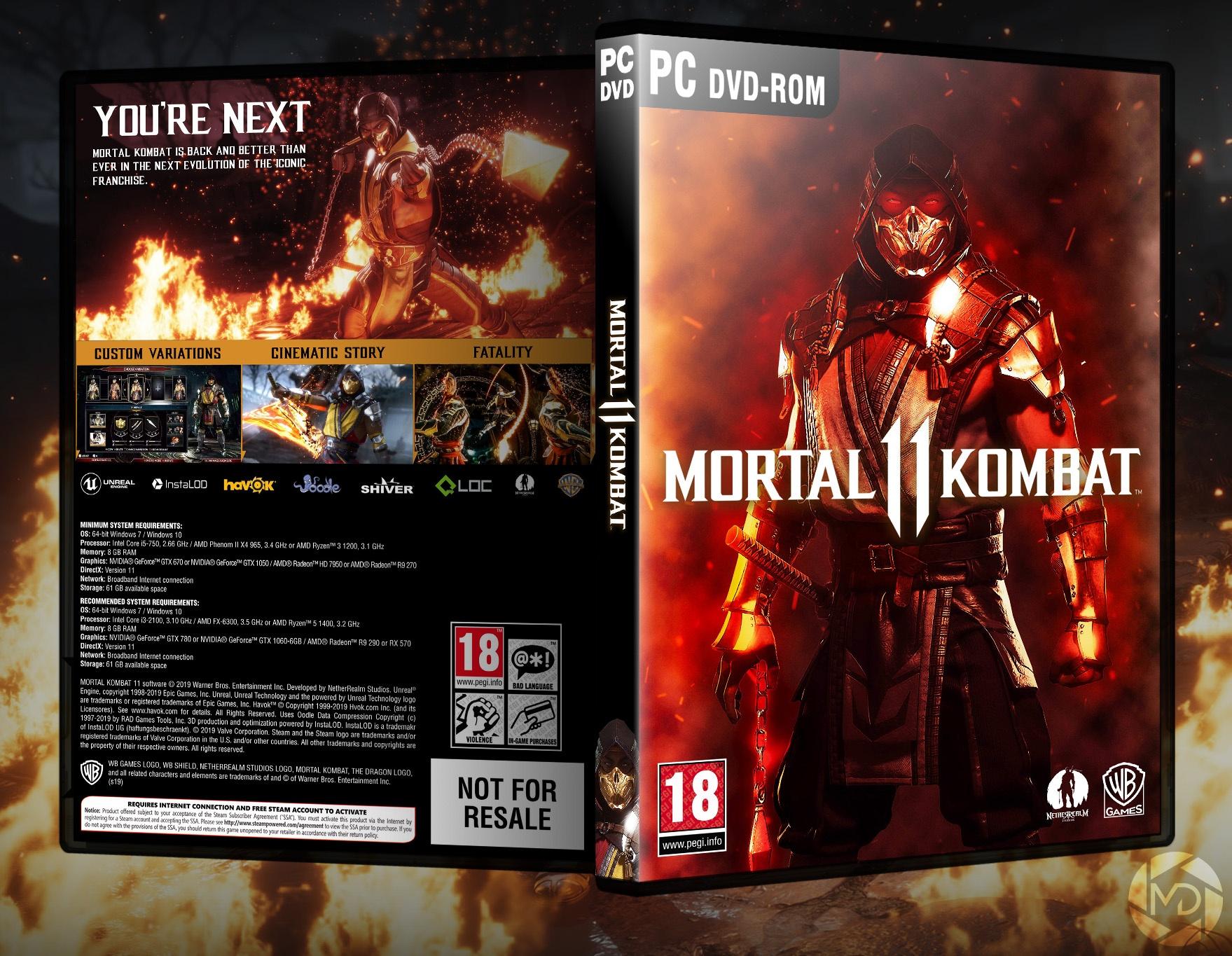 Mortal Kombat 11 PC Box Art Cover by FIRE13spotty