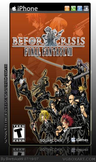 Before Crisis Final Fantasy Vii Pc Box Art Cover By