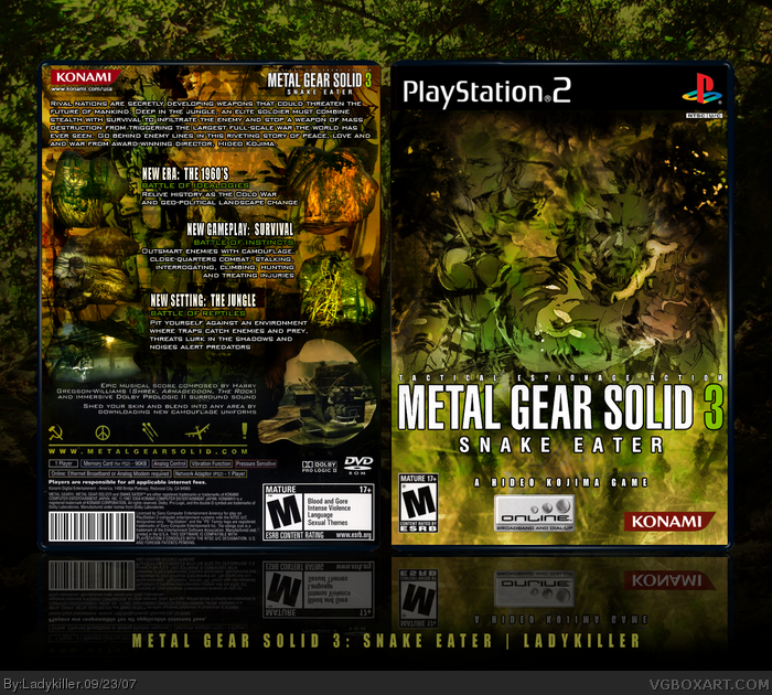 metal gear solid 3 snake eater playstation 2 box art