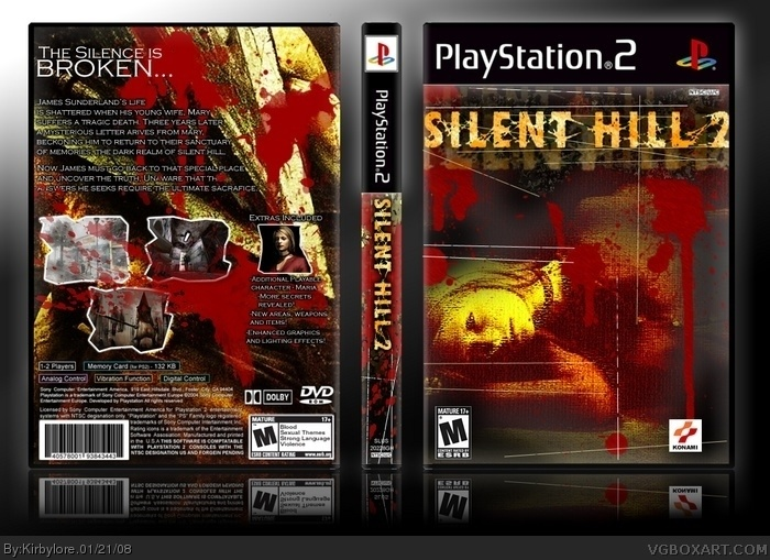 Silent Hill 2 Playstation 2 Box Art Cover By Kirbylore