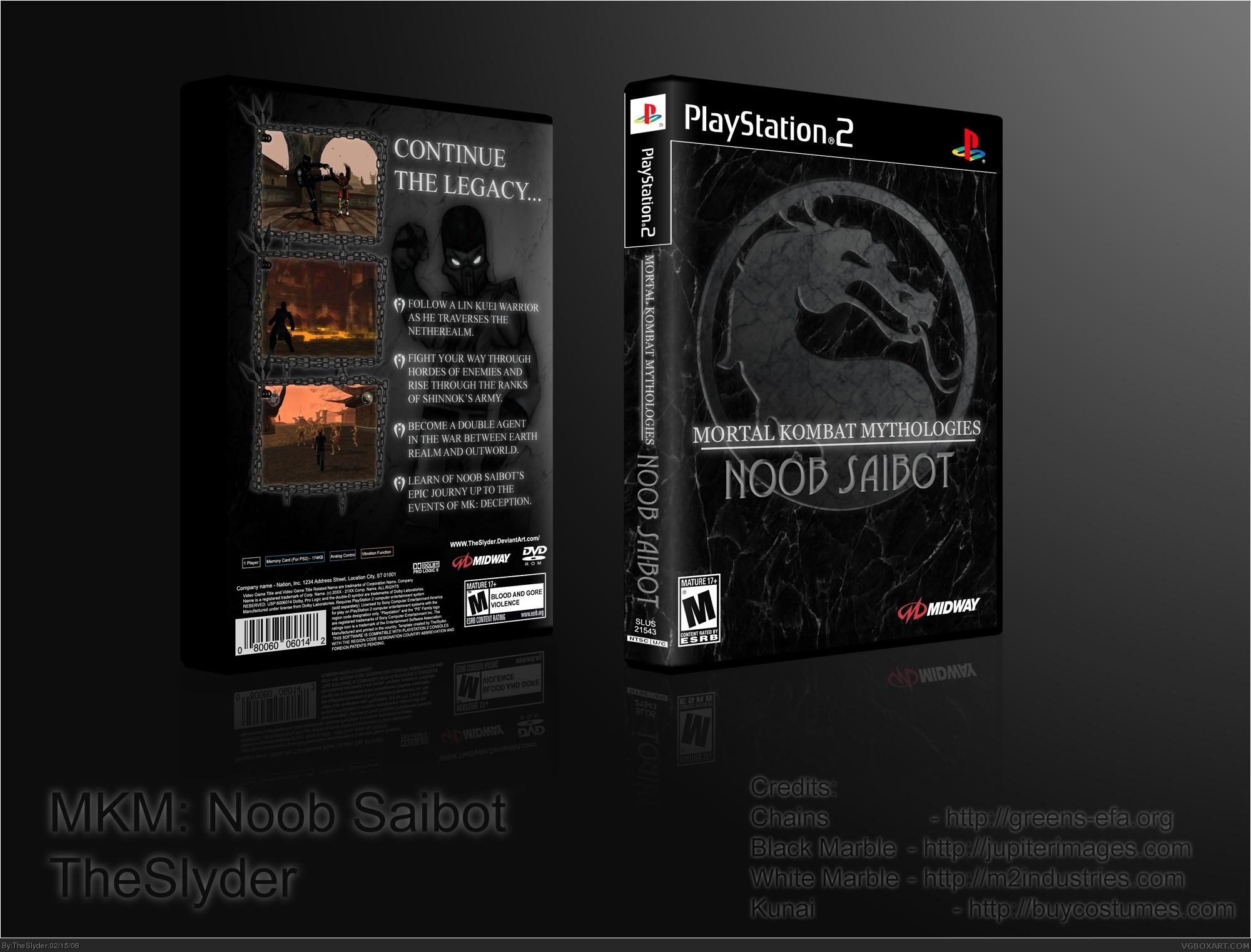 Mortal Kombat Mythologies Noob Saibot Playstation 2 Box