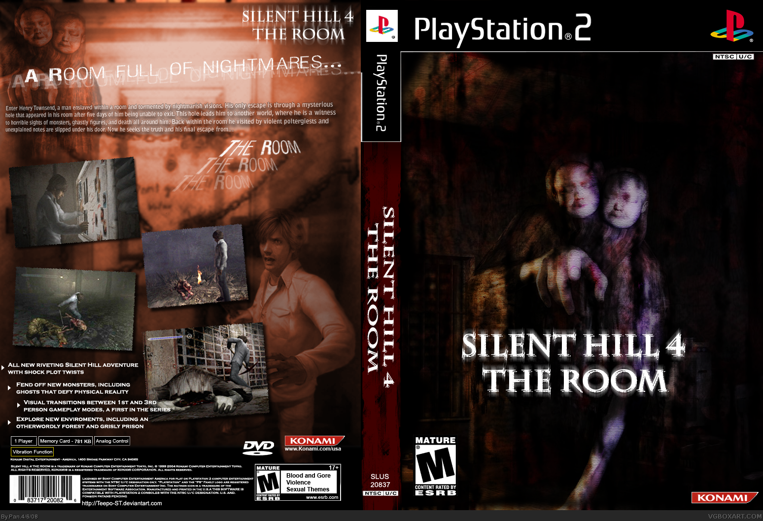 Silent Hill 4: The Room PlayStation 2 Box Art Cover by Pan