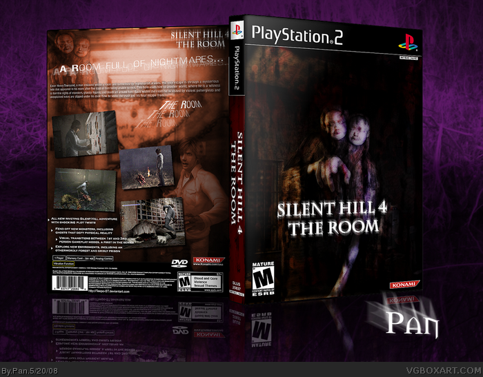 Silent Hill 4 The Room Playstation 2 Box Art Cover By Pan