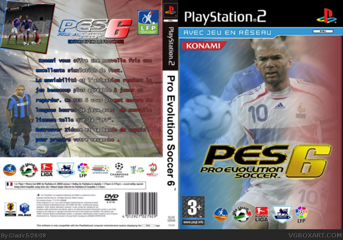 Pro Evolution Soccer 6 Playstation 2 Box Art Cover By Cladir
