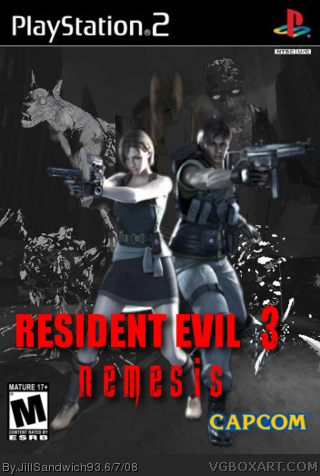Resident Evil 3 Nemesis Playstation 2 Box Art Cover By Jillsandwich93