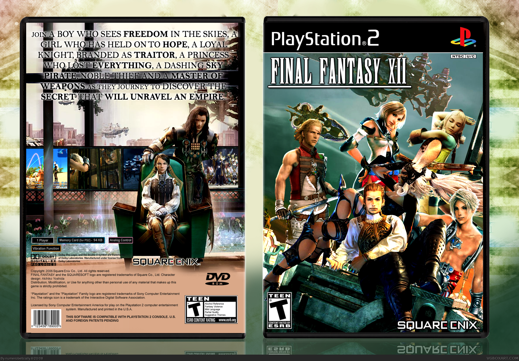 Final Fantasy XII PlayStation 2 Box Art Cover by ...