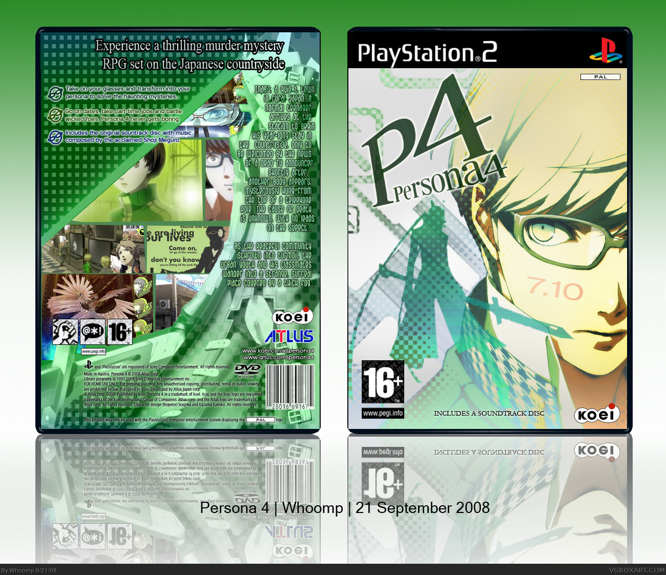 Persona 4 PlayStation 2 Box Art Cover by Whoomp