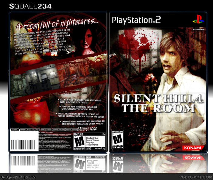 Silent Hill 4 The Room Playstation 2 Box Art Cover By Squall234