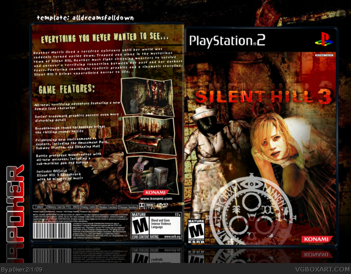 Silent Hill 3 Playstation 2 Box Art Cover By P0ker