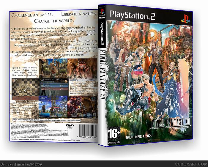Final Fantasy XII PlayStation 2 Box Art Cover by nakashimariku