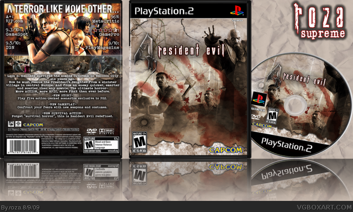 Resident Evil 4 Playstation 2 Box Art Cover By Roza