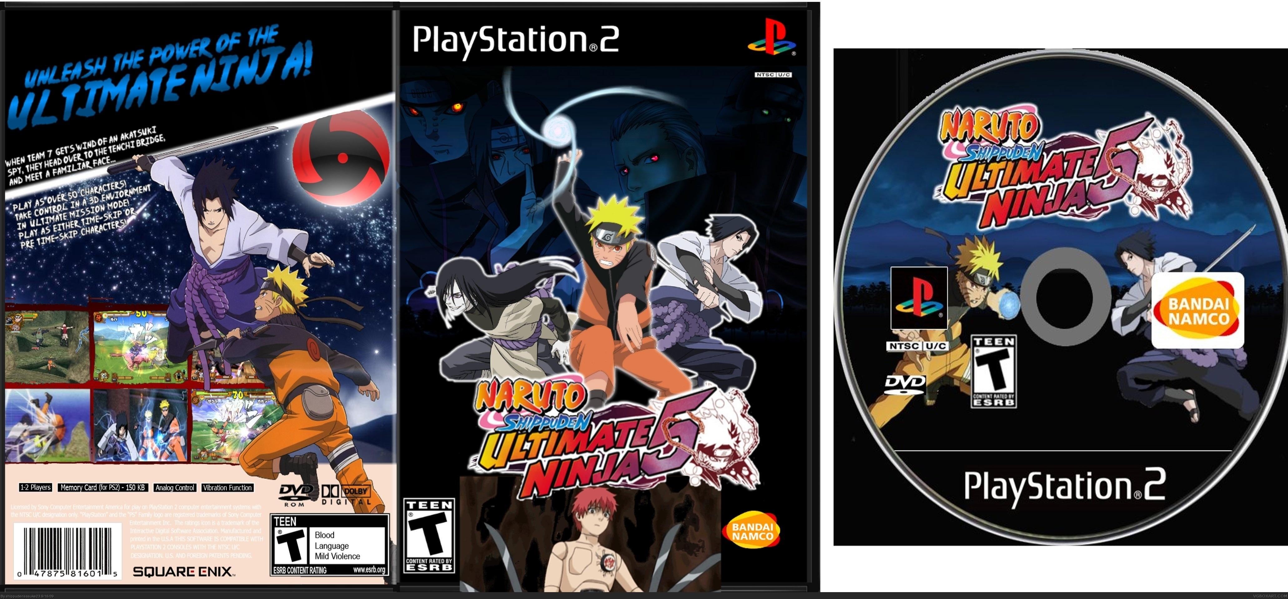 Naruto Shippuden: Ultimate Ninja 5 PlayStation 2 Box Art