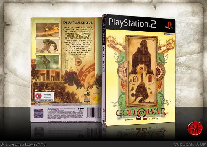 God of War PlayStation 2 Box Art Cover by alldreamsfalldown