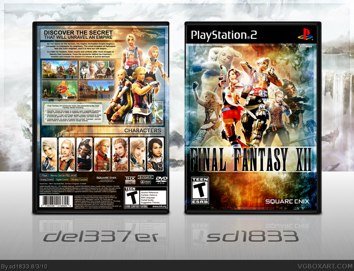 Final Fantasy XII PlayStation 2 Box Art Cover by sd1833